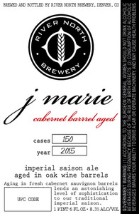 River North Brewery J Marie Cabernet Barrel Aged