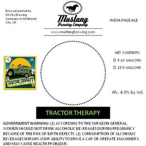 Mustang Brewing Company Tractor Therapy