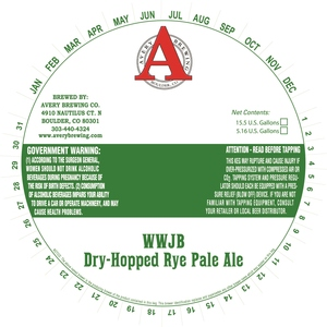 Avery Brewing Company Wwjb Dry-hopped Rye Pale Ale
