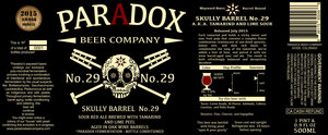 Paradox Beer Company Skully Barrel No. 29