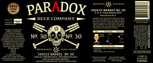 Paradox Beer Company Skully Barrel No. 30