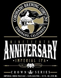 Coronado Brewing Company Nineteenth Anniversary Imperial IPA
