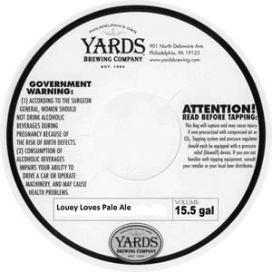 Yards Brewing Company Louey Loves Pale Ale