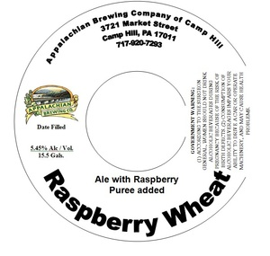 Appalachian Brewing Company Of Camp Hill Raspberry Wheat