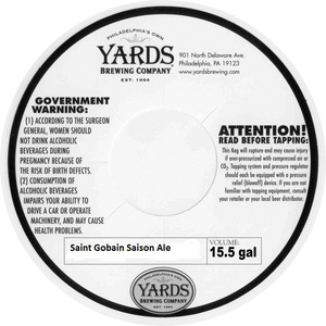 Yards Brewing Company Saint Gobain Saison Ale