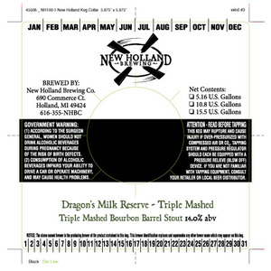 New Holland Brewing Company Dragon's Milk Reserve Triple Mashed