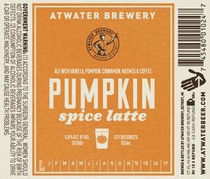 Atwater Brewery Pumpkin Spice Latte July 2015