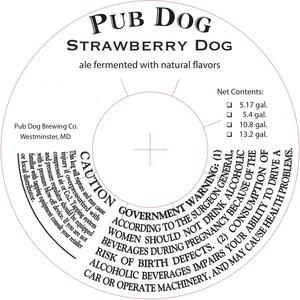 Pub Dog Strawberry Dog