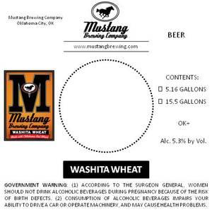 Mustang Brewing Company Washita Wheat