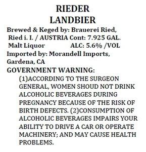 Brauerei Ried Landbier