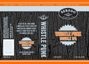 Sebago Brewing Company Whistle Punk Double IPA