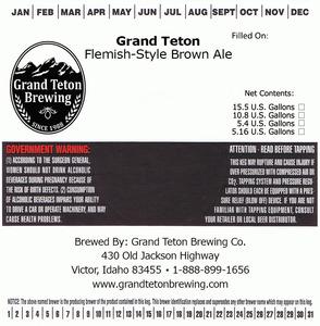 Grand Teton Brewing Company Grand Teton Flemish-style Brown