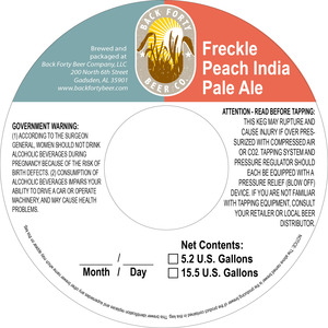 Back Forty Beer Company Freckle Peach