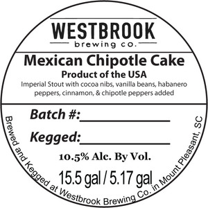 Westbrook Brewing Company Mexican Chipotle Cake