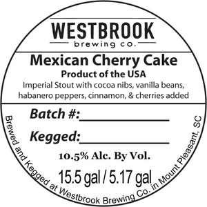 Westbrook Brewing Company Mexican Cherry Cake