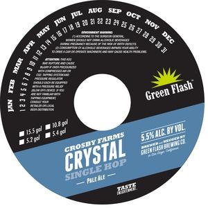 Green Flash Brewing Company Crosby Farms Crystal