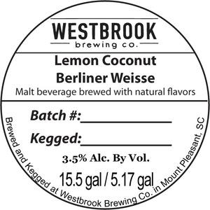 Westbrook Brewing Company Lemon Coconut Berliner Weisse