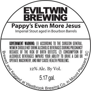 Evil Twin Brewing Pappy's Even More Jesus