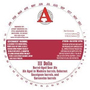Avery Brewing Company Iii Dolia
