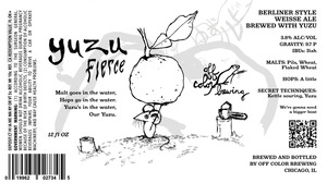 Off Color Brewing Yuzu Fierce