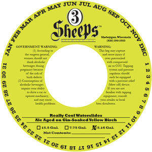 3 Sheeps Brewing Co. Really Cool Waterslides Aged On Gin-soak