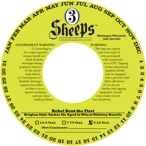 3 Sheeps Brewing Co. Rebel Kent Aged In Wheat Whiskey Barrels