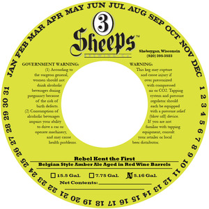 3 Sheeps Brewing Co. Rebel Kent Aged In Red Wine Barrels