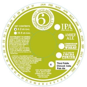 West Sixth Brewing Third Fiddle Chinook India Pale