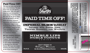 3 Sheeps Brewing Co. Paid Time Off!