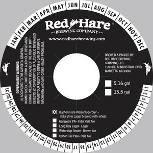 Red Hare Huphen Hare Weizenlagerbier