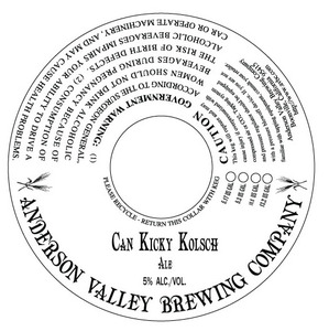 Anderson Valley Brewing Company Can Kicky Kolsch