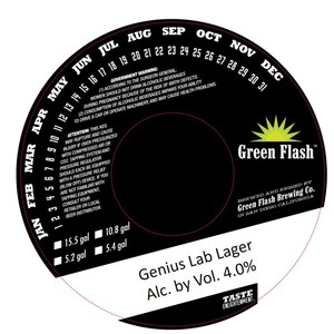 Green Flash Brewing Company Genius Lab Lager