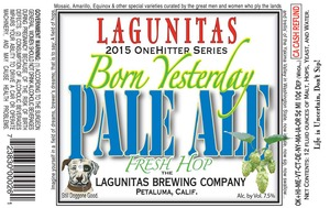 The Lagunitas Brewing Company Born Yesterday July 2015