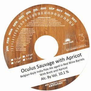 Green Flash Brewing Company Oculus Sauvage With Apricots