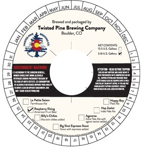 Twisted Pine Brewing Company Raspberry Rising