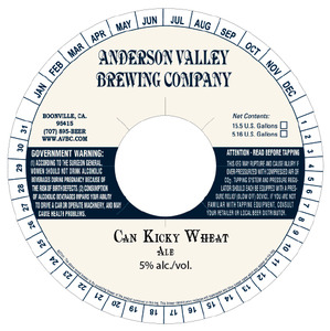 Anderson Valley Brewing Company Can Kicky Wheat