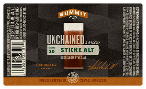 Summit Brewing Company Sticke Alt