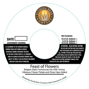 Florida Beer Company Feast Of Flowers