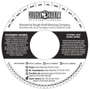 Rough Draft Brewing Company Super Saison
