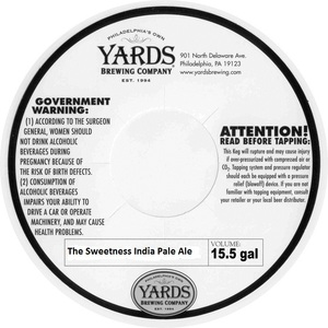 Yards Brewing Company The Sweetness India Pale Ale