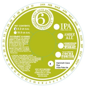 West Sixth Brewing Mammoth Cave India Pale