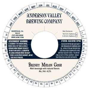 Anderson Valley Brewing Company Briney Melon Gose