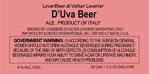 Loverbeer Di Valter Loverier D'uva Beer