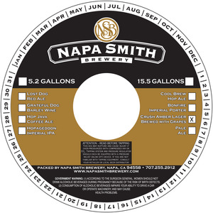 Napa Smith Brewery Crush