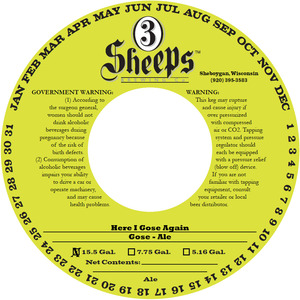 3 Sheeps Brewing Co. Here I Gose Again