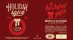 Lakefront Brewery Holiday Spice