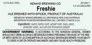 Nomad Brewing Co. Freshie