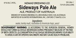 Nomad Brewing Co. Sideways Pale Ale