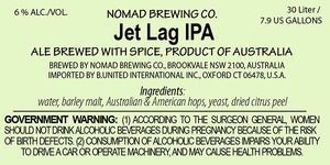 Nomad Brewing Co. Jet Lag IPA