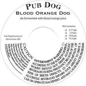 Pub Dog Blood Orange Dog